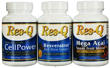 DROPPED: Res-Q - Antioxidant Kit: Res-Q CellPower, Res-Q Resveratrol and  Res-Q Mega-Acai