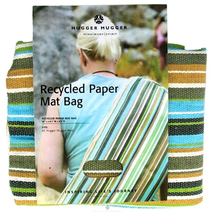 DROPPED: Hugger Mugger Yoga Products - Recycled Paper Yoga Mat Bag Beach - CLEARANCE PRICED
