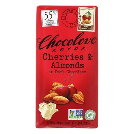Chocolove - Dark Chocolate Bar Cherries & Almonds - 3.2 oz.
