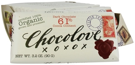 DROPPED: Chocolove - Organic Dark Chocolate Bar 61% Cocoa - 3.2 oz. CLEARANCE PRICED