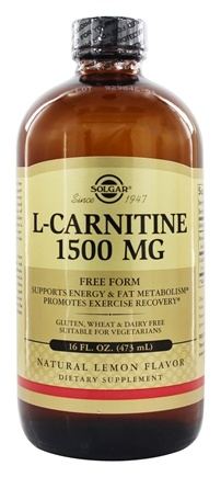 Solgar - L-Carnitine Liquid Free Form Pharmaceutical Grade Natural Lemon Flavor 1500 mg. - 16 oz.