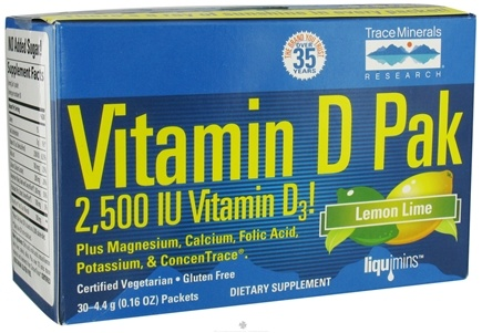 DROPPED: Trace Minerals Research - Vitamin D Pack Lemon Lime - 30 Packet(s) CLEARANCE PRICED