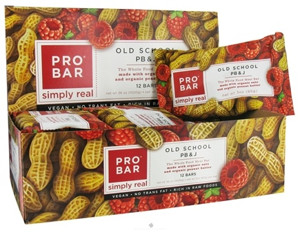 DROPPED: Pro Bar - Whole Food Meal Bar Original Collection Old School PB & J - 3 oz.