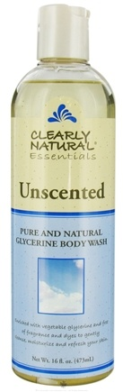 DROPPED: Clearly Natural - Pure and Natural Glycerine Body Wash Unscented - 16 oz.