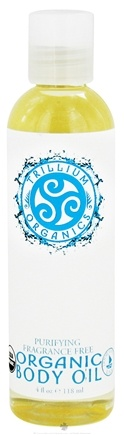 DROPPED: Trillium Organics - Organic Body Oil Fragrance Free - 4 oz. CLEARANCE PRICED