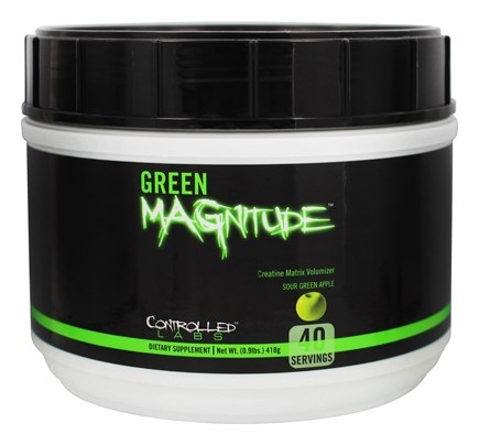 DROPPED: Controlled Labs - Green Magnitude Creatine Matrix Volumizer Sour Green Apple Flavor - 0.92 lbs. CLEARANCE PRICED