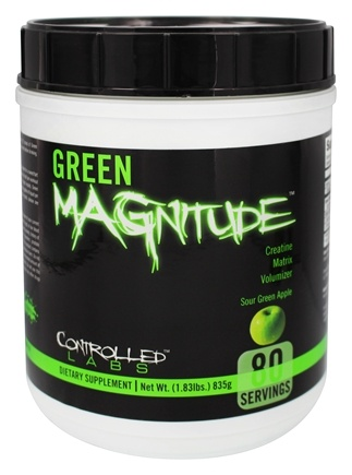 DROPPED: Controlled Labs - Green Magnitude Creatine Matrix Volumizer Sour Green Apple Flavor - 1.83 lbs. CLEARANCE PRICED
