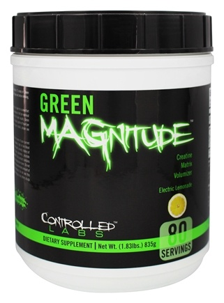 DROPPED: Controlled Labs - Green Magnitude Creatine Matrix Volumizer Electric Lemonade Flavor - 1.83 lbs. CLEARANCE PRICED