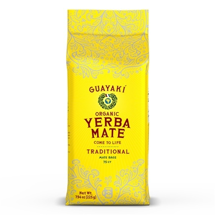 DROPPED: Guayaki - Organic Traditional Yerba Mate Bags - 75 Tea Bags