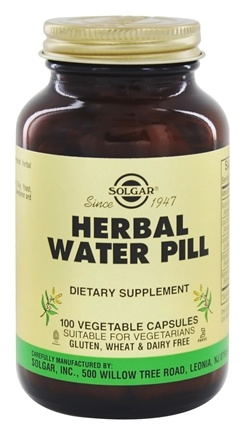Solgar - Herbal Water Pill - 100 Vegetarian Capsules (formerly Natural Herbal Diuretic)