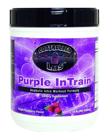 DROPPED: Controlled Labs - Purple InTrain Anabolic Intra Workout Formula Purple Raspberry Flavor - 2.18 lbs. CLEARANCE PRICED