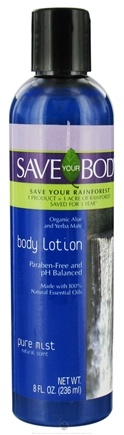DROPPED: Save Your World - Save Your Body Body Lotion Pure Mist - 8 oz. CLEARANCE PRICED