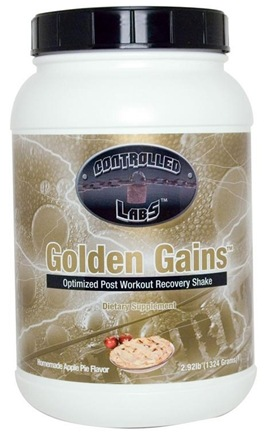 DROPPED: Controlled Labs - Golden Gains Optimized Post Workout Recovery Shake Homemade Apple Pie Flavor - 2.92 lbs. CLEARANCE PRICED
