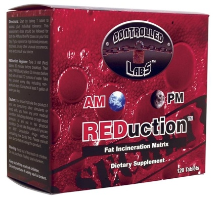 DROPPED: Controlled Labs - REDuction AM/PM Fat Incineration Matrix with Raspberry Ketones - 120 Tablets