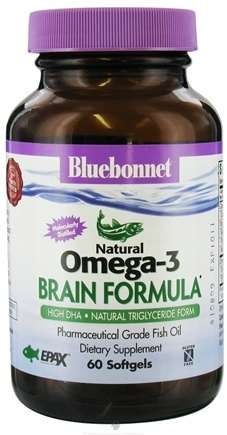 DROPPED: Bluebonnet Nutrition - Natural Omega-3 Fish Oil Brain Formula - 60 Softgels CLEARANCE PRICED