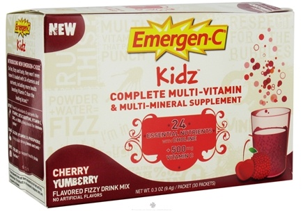 DROPPED: Alacer - Emergen-C Kidz Multi-Vitamin Cherry Yumberry - 30 Packet(s)