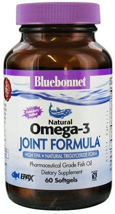 DROPPED: Bluebonnet Nutrition - Natural Omega-3 Fish Oil Joint Formula - 60 Softgels CLEARANCE PRICED