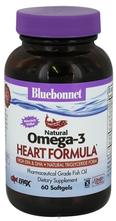 DROPPED: Bluebonnet Nutrition - Natural Omega-3 Fish Oil Heart Formula - 60 Softgels CLEARANCE PRICED