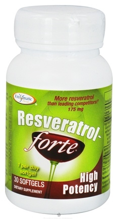 DROPPED: Enzymatic Therapy - Resveratrol Forte High Potency - 30 Softgels CLEARANCE PRICED