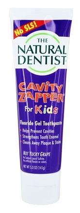 Natural Dentist - Cavity Zapper Anticavity Gel Toothpaste Groovy Grape - 5 oz.
