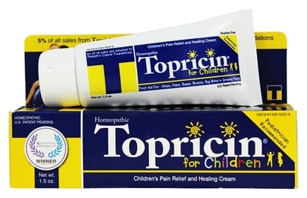 Topical BioMedics - Topricin Pain Relief and Healing Cream For Children - 1.5 oz.