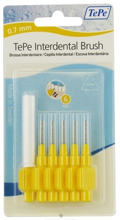 DROPPED: TePe Oral Health Care - Interdental Brush 0.7 mm Yellow - 6 Piece(s)