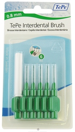 DROPPED: TePe Oral Health Care - Interdental Brush 0.8 mm Green - 6 Piece(s)