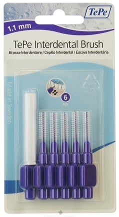 DROPPED: TePe Oral Health Care - Interdental Brush 1.1 mm Purple - 6 Piece(s)