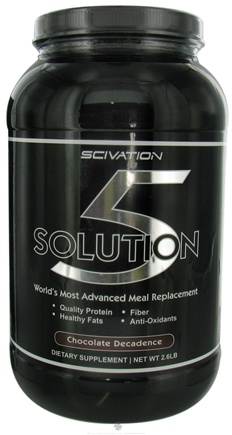 DROPPED: Scivation - Solution 5 Advanced Meal Replacement Chocolate Decadence - 2.6 lbs.