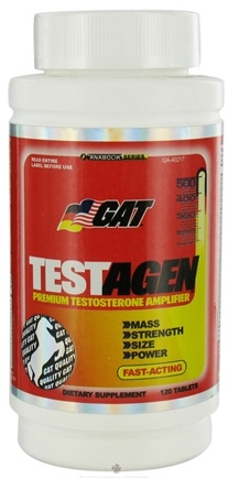 DROPPED: GAT - Testagen Premium Testosterone Amplifier - 120 Tablets German American Technologies CLEARANCE PRICED