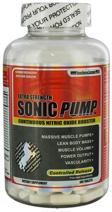 DROPPED: German American Technologies - Sonic Pump Continuous Nitric Oxide Booster Extra Strength - 180 Tablets CLEARANCE PRICED