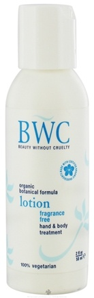 DROPPED: Beauty Without Cruelty - Lotion Hand & Body Treatment Travel Size Fragrance Free - 2 oz. CLEARANCE PRICED