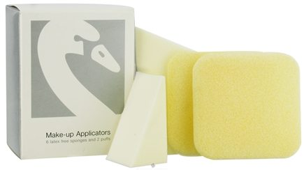 DROPPED: Beauty Without Cruelty - Make-Up Applicators 6 Latex-Free Sponges & 2 Puffs - CLEARANCE PRICED