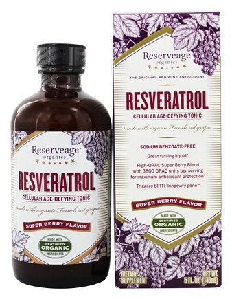 ReserveAge Organics - Resveratrol Cellular Age-Defying Tonic Super Berry Flavor - 5 oz.
