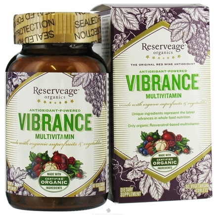 DROPPED: ReserveAge Organics - Vibrance Multivitamin - 60 Tablets
