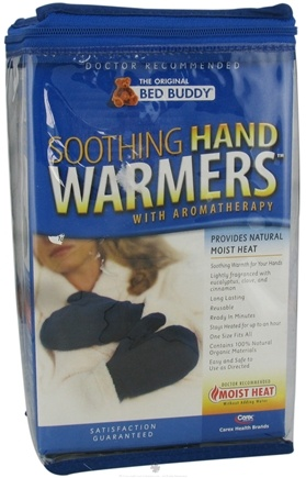 DROPPED: Bed Buddy - Aromatherapy Soothing Hand Warmers Navy - 1 Pair CLEARANCE PRICED