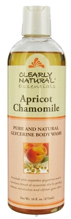 DROPPED: Clearly Natural - Pure and Natural Glycerine Body Wash Apricot Chamomile - 16 oz. CLEARANCE PRICED