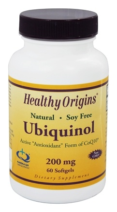 Healthy Origins - Ubiquinol Kaneka QH 200 mg. - 60 Softgels