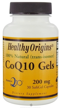 DROPPED: Healthy Origins - CoQ10 Kaneka Q10 Gels 200 mg. - 30 Softgels CLEARANCE PRICED