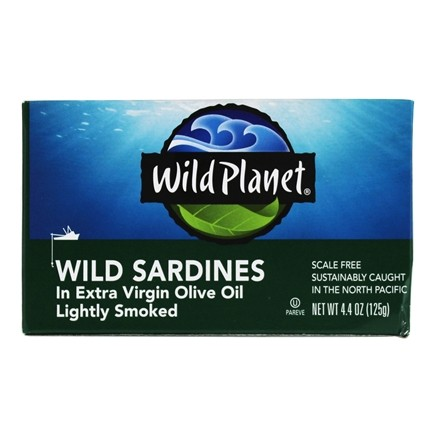 Wild Planet - Wild Sardines in Extra Virgin Olive Oil 125 g. - 4.38 oz.