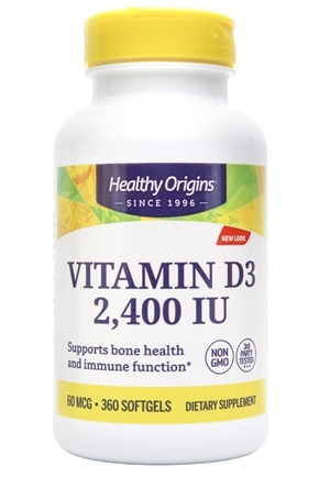 Healthy Origins - Vitamin D3 2400 IU - 360 Softgels