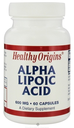 DROPPED: Healthy Origins - Alpha Lipoic Acid 600 mg. - 60 Capsules CLEARANCE PRICED