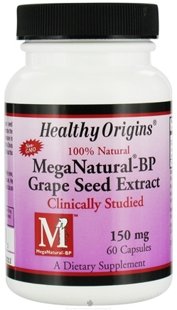 DROPPED: Healthy Origins - MegaNatural-BP Grape Seed Extract 150 mg. - 60 Capsules CLEARANCE PRICED