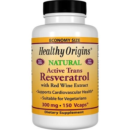 Healthy Origins - Resveratrol with Red Wine Extract 300 mg. - 150 Vegetarian Capsules