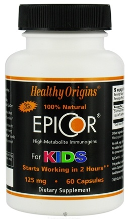 DROPPED: Healthy Origins - 100% Natural EpiCor High-Metabolite Immunogens For Kids 125 mg. - 60 Capsules CLEARANCE PRICED