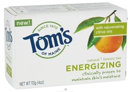 DROPPED: Tom's of Maine - Natural Beauty Bar Energizing - 4 oz. CLEARANCE PRICED