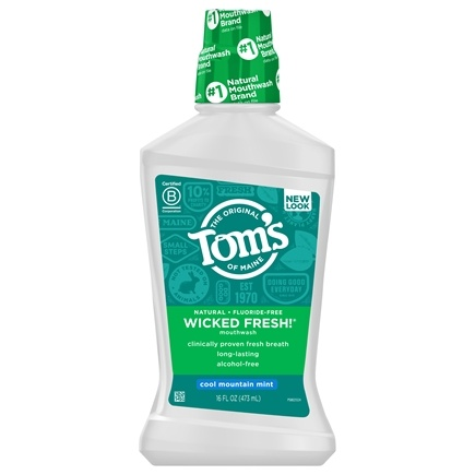 Tom's of Maine - Natural Mouthwash Wicked Fresh Cool Mountain Mint - 16 oz.