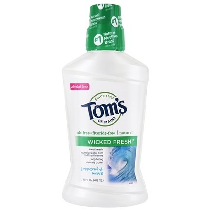 Tom's of Maine - Natural Mouthwash Wicked Fresh Peppermint Wave - 16 oz.