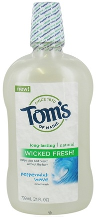 DROPPED: Tom's of Maine - Natural Mouthwash Wicked Fresh Peppermint Wave - 24 oz. CLEARANCE PRICED