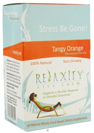 DROPPED: Neriah Naturals - Relaxity Live Calm 100% Natural Whole Food Effervescent Drink Mix Non-Drowsy Tangy Orange - 15 Packet(s)